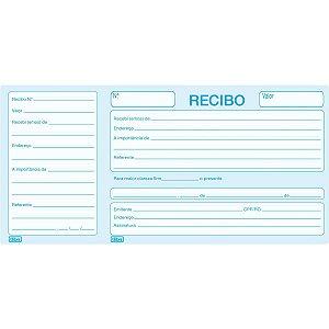 Impresso Recibo Comercial Com Canhoto 50F Tilibra
