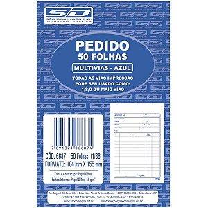 Impresso Talao De Pedido 1/36 1 Via 50 Folhas Azul Sao Domingos