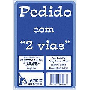 Impresso Talao De Pedido 1/36 2 Vias 25 Folhas Tamoio