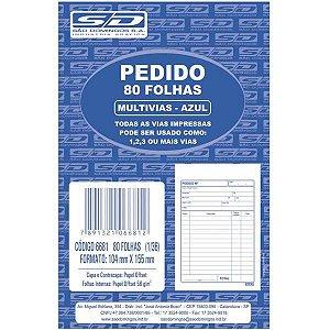 Impresso Talao De Pedido 1/36 2 Vias 40 Folhas Azul Sao Domingos