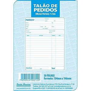 Impresso Talao De Pedido 1/36 2 Vias 50 Folhas Pauta Branca