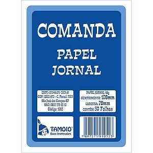 Impresso Talao Comanda Jornal 50F.80Mmx110Mm Tamoio