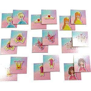 Jogo Da Memoria Princesas 40 Pecas Em Madeira Coluna
