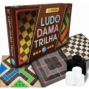 Jogo De Tabuleiro 3 Jogos Ludo Dama E Trilha Pais E Filhos