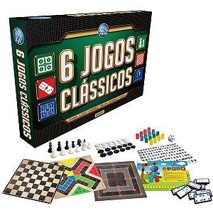 Jogo De Tabuleiro 6 Jogos Classicos Pais E Filhos