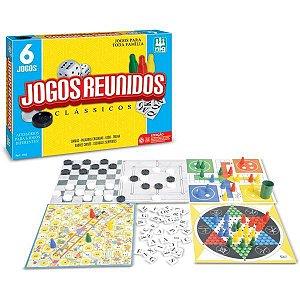 Jogo De Tabuleiro Super Jogos Reunidos 6Em1 Brinquedos Nig