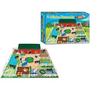 Jogo Diverso Minha Fazenda 41 Peças Brinquedos Nig