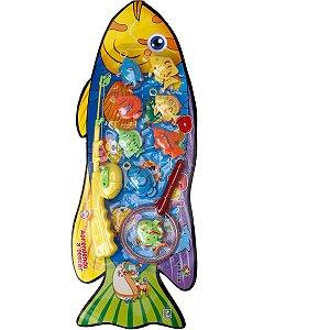 Jogo Diverso Pega Peixe C/vara/redinha/peix Art Brink