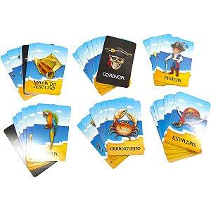 Jogo Diverso Rouba Montes Piratas 55 Cartas Coluna