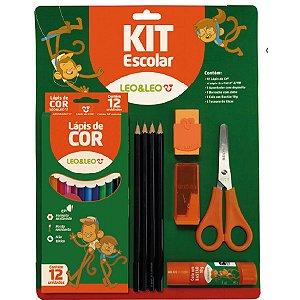 Kit Escolar Kit C/20 Pecas Blister Leonora