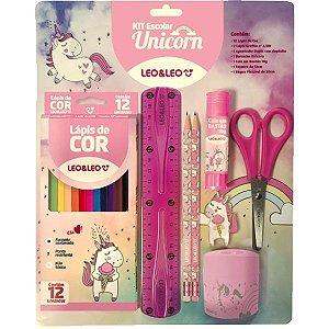 Kit Escolar Unicornio Kit C/8 Pecas Leonora