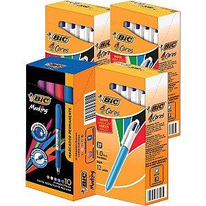 Kit Promocional 3Csx.bic 4 Cor+1Cx.marking Sor Bic