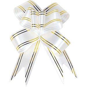 Laco Pronto 18Mmx34Cm Branco Fio Dourado Gala