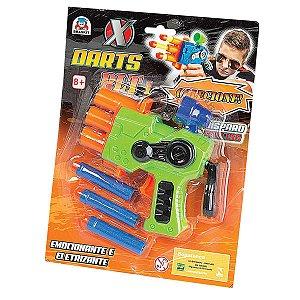 Lancador X Darts Plt 1 C/3 Dardos Braskit