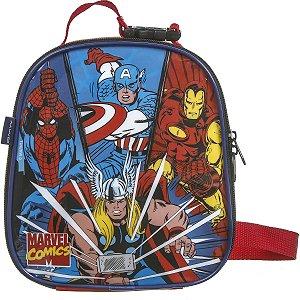 Lancheira Termica Com Garrafa Marvel Comics Max Super Dmw