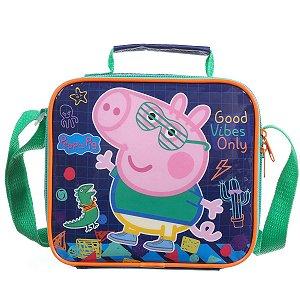 Lancheira Termica Com Garrafa Peppa Pig George Plus Dermiwil