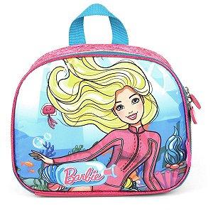 Lancheira Termica Barbie Mao/costas Azul Luxcel