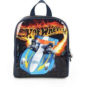 Lancheira Termica Hot Wheels Mao/costas Azul Luxcel