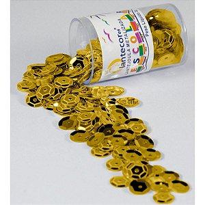 Lantejoula Metalizada Ouro 10Mm. Potes 2G. Lantecor
