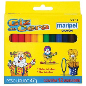 Lapis De Cera Fino 12 Cores Maripel