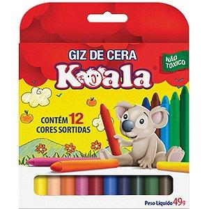 Lapis De Cera Fino 12 Cores Koala Delta