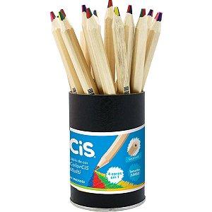 Lapis De Cor Jumbao Cis Multicolor Grafite 4 Cores Sertic