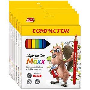 Lapis De Cor Jumbao Maxx 12Cores Compactor