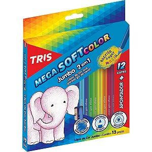Lapis De Cor Jumbao Mega Soft Color 12Cores Triang Summit