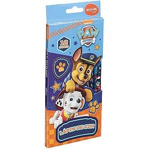Lapis De Cor Redondo Patrulha Canina 12 Cores Molin