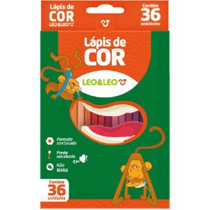 Lapis De Cor Sextavado 36Cores Leonora