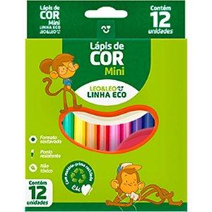 Lapis De Cor Sextavado Eco 12Cores Curto Leonora