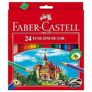 Lapis De Cor Sextavado Ecolapis 24 Cores S/kit Faber-Castell