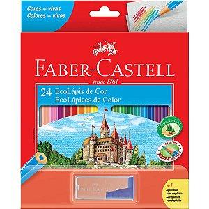 Lapis De Cor Sextavado Ecolapis 24Cores + 1Apont.dep. Faber-Castell