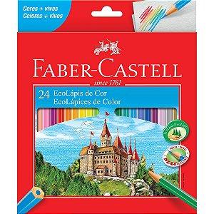 Lapis De Cor Sextavado Ecolapis 24Cores Pct/06 Faber-Castell