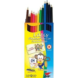 Lapis De Cor Sextavado Linha Escolar C/12Cores V.m.p.