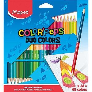 Lapis De Cor Triangular Color Peps Duo 24Lapis 48Cores Maped