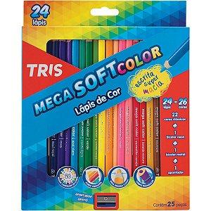 Lapis De Cor Triangular Mega Soft Color 24Cores Summit