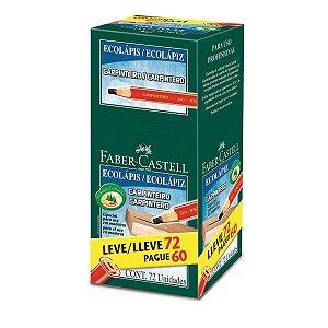 Lapis Preto Carpinteiro Ecolapis 1/2 Grosa Faber-Castell
