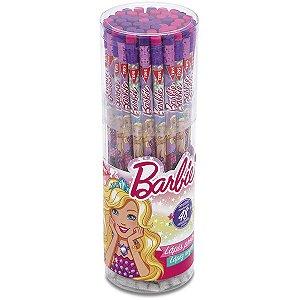 Lapis Preto Redondo Decorado Barbie C/borracha Summit