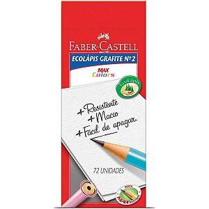 Lapis Preto Redondo Decorado Ecolapis 1205 Max Colors Faber-Castell