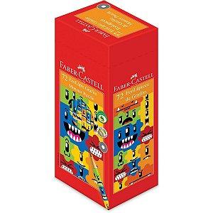 Lapis Preto Redondo Decorado Monster Puzzle 2Modelos Faber-Castell