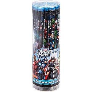 Lapis Preto Redondo Decorado The Avengers Hb Nº2 C/borracha Molin