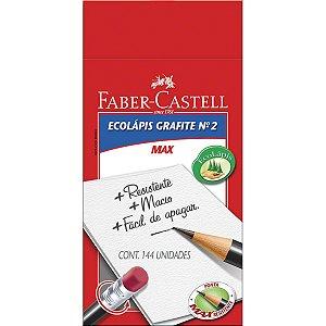 Lapis Preto Redondo Ecolapis N.2B C/borracha Faber-Castell