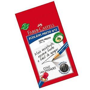 Lapis Preto Redondo Ecolapis Presto C/borracha Faber-Castell