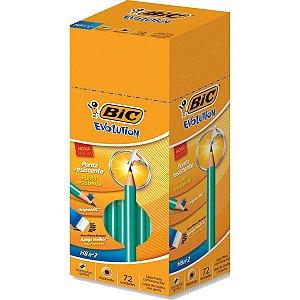 Lapis Preto Redondo Evolution 2Hb C/borracha Bic