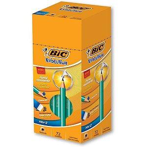 Lapis Preto Redondo Evolution 2Hb S/borracha Bic