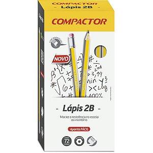 Lapis Preto Sextavado 2B C/borracha Compactor