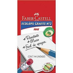 Lapis Preto Sextavado Ecolapis Presto C/borracha Faber-Castell