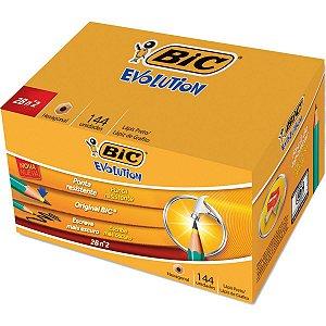 Lapis Preto Sextavado Evolution 2B S/borracha Bic