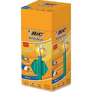 Lapis Preto Sextavado Evolution 2Hb C/borracha Bic